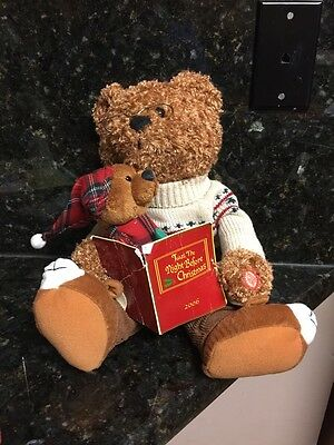 """Vintage Action Talking Plush Toy Bears"""" Twas The Night Before Christmas"""" 2006"""