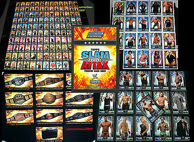 Topps Slam Attax SERIE 2009 Sets + Karten WWE Wrestling Trading Card Cards