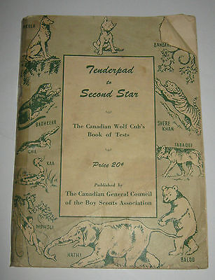 Boy Scouts Canadian Association Tenderpad to Second Star Wolf Cubs - 4th 1955