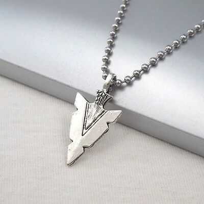 Silver Alloy Spear Arrow Symbol Pendant Ethnic Tribal Necklace Chain NEW
