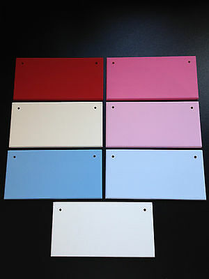 """Pre Painted Blank Wooden plaques x 5/10 - sizes 6x3 7x4 6x6 8x4 10x4"""""""
