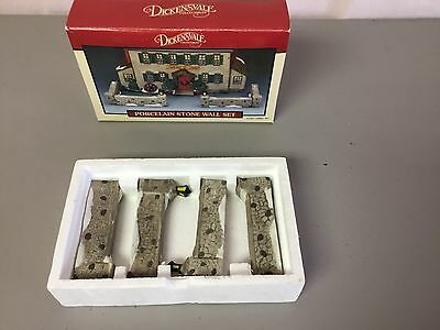 Dickensvale Collectible Porcelain Set Of 4 Stone Wall #517Z