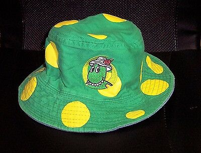 The Wiggles Dorothy Bucket Hat Reversible Green Yellow Dots 2005 LIVE Child's