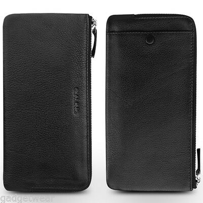 Qialino Universal Tumbled Leather Phone Purse for Apple iPhone 7 PLUS - Black