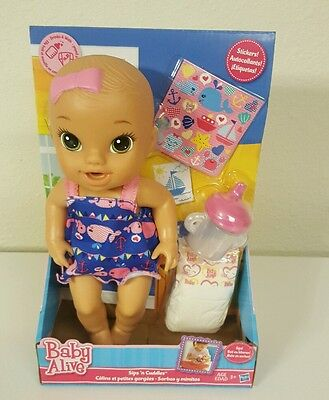 New Baby Alive Sips 'n Cuddles Nautical Doll