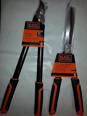 Black and Decker 24in Bypass lopper & 21in Wavy Blade Hedge Shears Combo pack