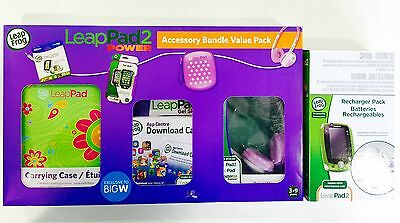 LeapFrog LeapPad 2 Power Accessory Bundle - Hot Pink NEW!