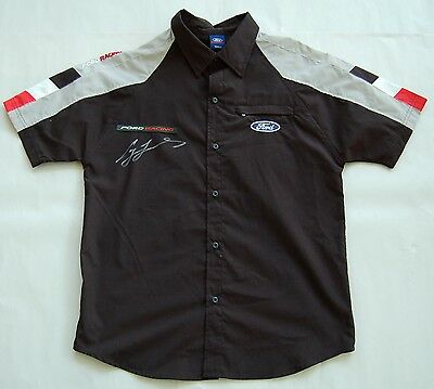 Craig Lowdnes Hand Signed V8 Supercars Ford Racing Pit Crew Shirt