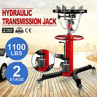 0.5T 2 Stage Hydraulic Transmission Jack Lift Hoist Telescopic Stand Lifter