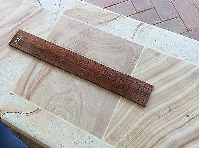 Cocobolo Rosewood Slotted Fretboard Blank .