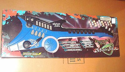 Music Ink Electronic Guitar Black & Blue New Awesome*****