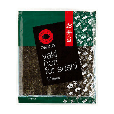 Obento Sushi Nori Seaweed 10 sheets-UK Seller