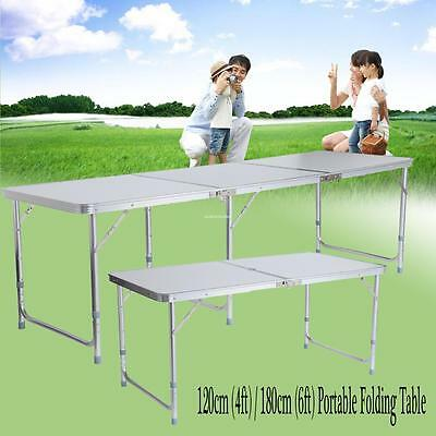 4FT/6FT Folding Outdoor Aluminum Camping Picnic Home Party Dining Table BBQ Tool