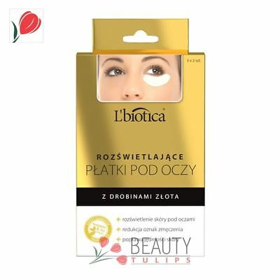 L'Biotica Collagen Under Eye Patches Illuminating with Gold 3 Pairs
