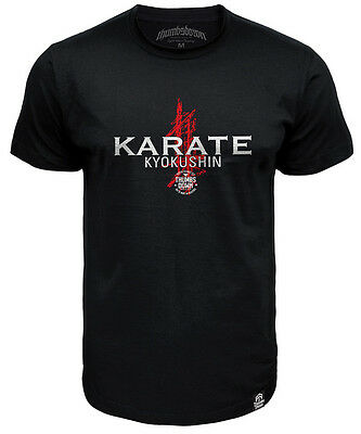 Tshirt Thumbsdown Karate Kyokushin !  Ideal For Mma, Casual Wears! Ts346 Blk