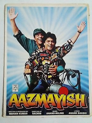 Old Bollywood Movie Press Book- Aazmayish/ Dharmendr /1995