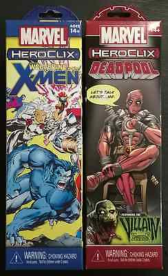 Heroclix Wolverine X-Men and Deadpool Boosters New Sealed