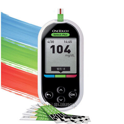 New Diabetic One Touch Select Plus Blood Glucose Monitoring Meter Kit