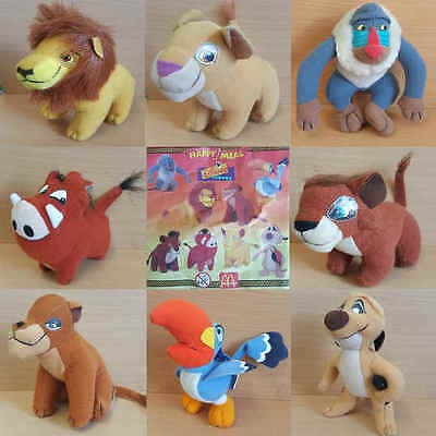 McDonalds Happy Meal Toy 1998 Walt Disney LION KING Plush Character - VARIOUS