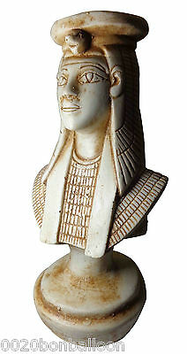 "Queen Cleopatra Pharaoh Figurine Statue Ancient 8.6"" Collectible Sculpture 201"