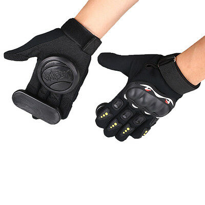 Pair Skateboard Freeride Slide Protective Gloves Longboard with Foam Palm Adult