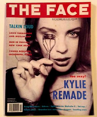 The Face Magazine-Vol 2-Issue 37-October 1991-Kylie Remade-Rare-Good Condition