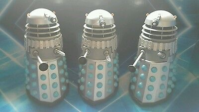 DOCTOR WHO DALEK The Chase Silver Blue Action Figures  set of three