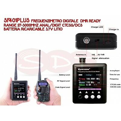 Sf401Plus Surecom Freq. Digital  Dmr Ready Range 27-3000Mhz Anal/digit Ctcss/dcs