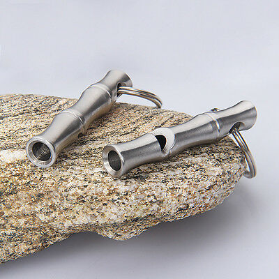 Outdoor Lifesaving Emergency Survival SOS 120DB Referee Stainless Steel Whistle
