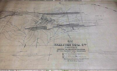 1859 Map of The Hazleton Coal Company Luzerne County Pa