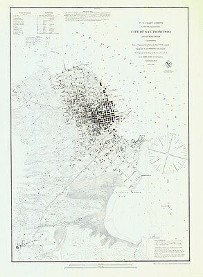 1853 Map of the City of San Francisco