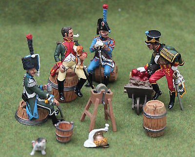 King And Country Toy Soldiers Napoleonic 4 Seated French Cavalry Na82 Britains