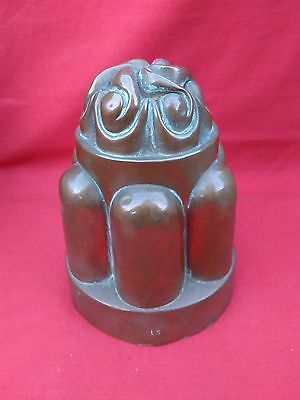 ANTIQUE VICTORIAN 1800s COPPER MOULD. NUMBER 15. NO PINHOLES, SOLDER OR REPAIRS