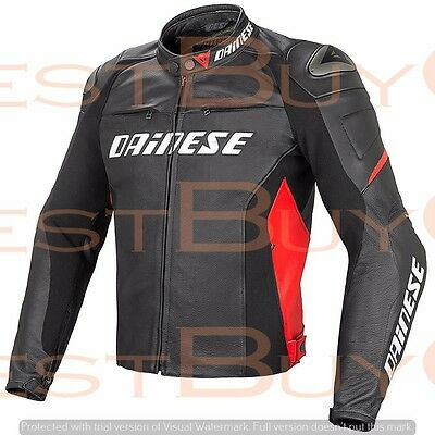 Denise Racing D1 MOTORCYCLE PURE COWHIDE LEATHER JACKET XS to 6XL