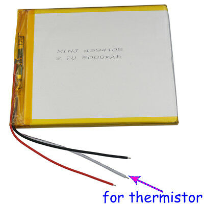3.7V 5000 mAh Polymer Li Battery 3 wires for thermistor For Tablet PC 4594105 A