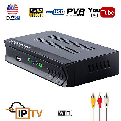 DVB-S2 Digital Satellite TV Receiver With HD Audio IPTV Combo Youtube USB Record
