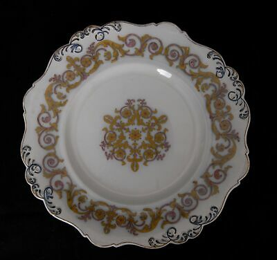 1x Antique Unbranded Plate Italian Scroll Pattern 3932 Cracked