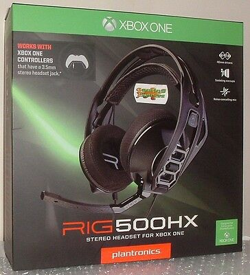 Plantronics RIG 500HX Stereo Gaming Headset for XBOX ONE XB1 NEW SEALED
