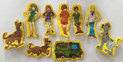 Vintage 1978 Scooby Doo Character Puffy Fridge Magnets Set HBP