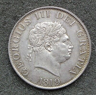 1819 George III Silver Half Crown, UNC