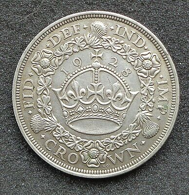 1928 George V Silver Wreath Crown -UNC