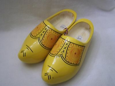 Holland made Wooden Clog Shoes Painted Size 38/39