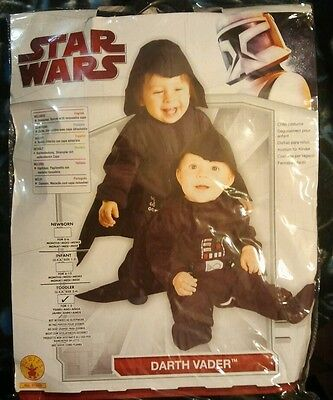 NeW STAR WARS MOVIE DARTH VADER SIZE 3-4 CosTuMe Attached Cape CUTE Nip