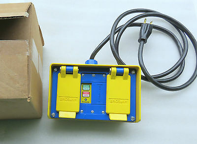 Ericson GOV 1062 20AMP Portable GFCI w 6ft Cord, 120VAC Circuit Guard NEW $270