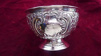 Fine Quality Victorian Silver Bowl By: Fenton Brothers, Sheffield, 1889
