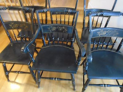 S Bent Bros Gold Stenciled Chairs- 4 avail (2) w/ Arm Rests LOCAL PICKUP ONLY