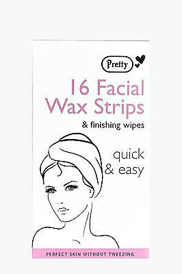 Boohoo Womens 16 Facial Wax Strips With Wipes in Clear size One Size