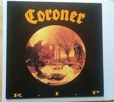 Coroner R.I.P. LP Noise Records N0075 1987 Celtic Frost Hellhammer Very Rare