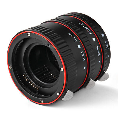 Macro Auto Focus Extension Tube Set Red for Canon EOS Extreme Close-Up DC731