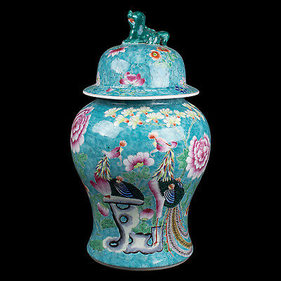 China 20. Jh. Große Deckelvase -A Chinese Baluster Vase & Cover - Chinois Cinese